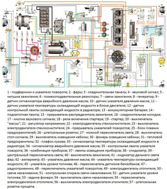 shema 3303 kontaktnay 575x650 - Схема проводки уаз 3909 буханка карбюратор